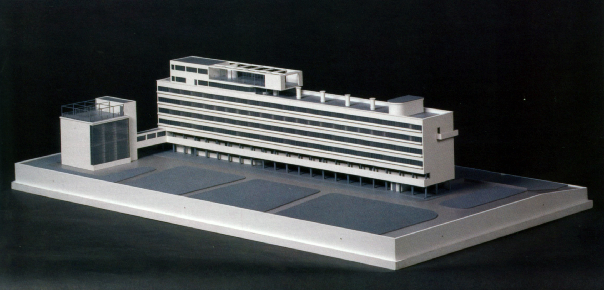 Alexei Ginzburg's model for the restoration of the Narkomfin
