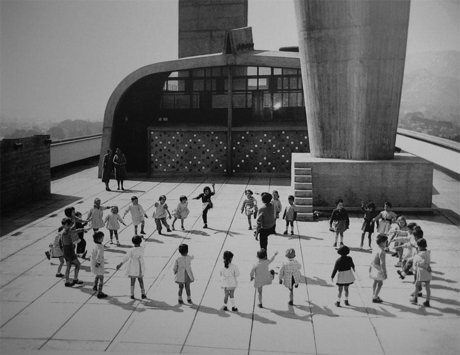 Marseille, Unité d'habitation - photo:Rene Burri, 1958