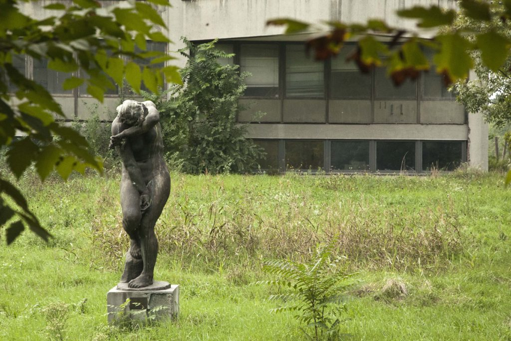 in front of Modern Art Museum (MOCAB)
